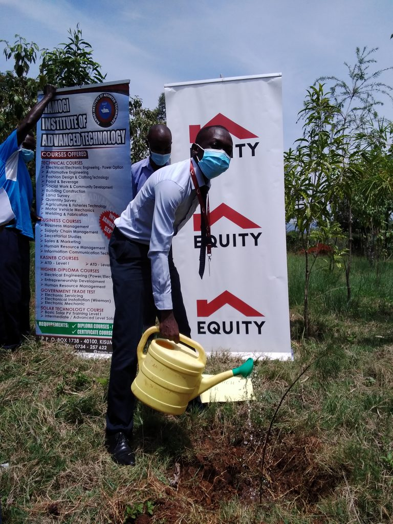 Tree planting- Equity Bank Branch Manager